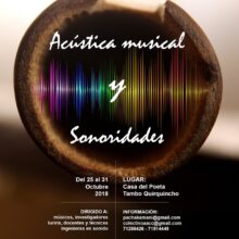 Taller multidisciplinario en acústica musical y sonoridades